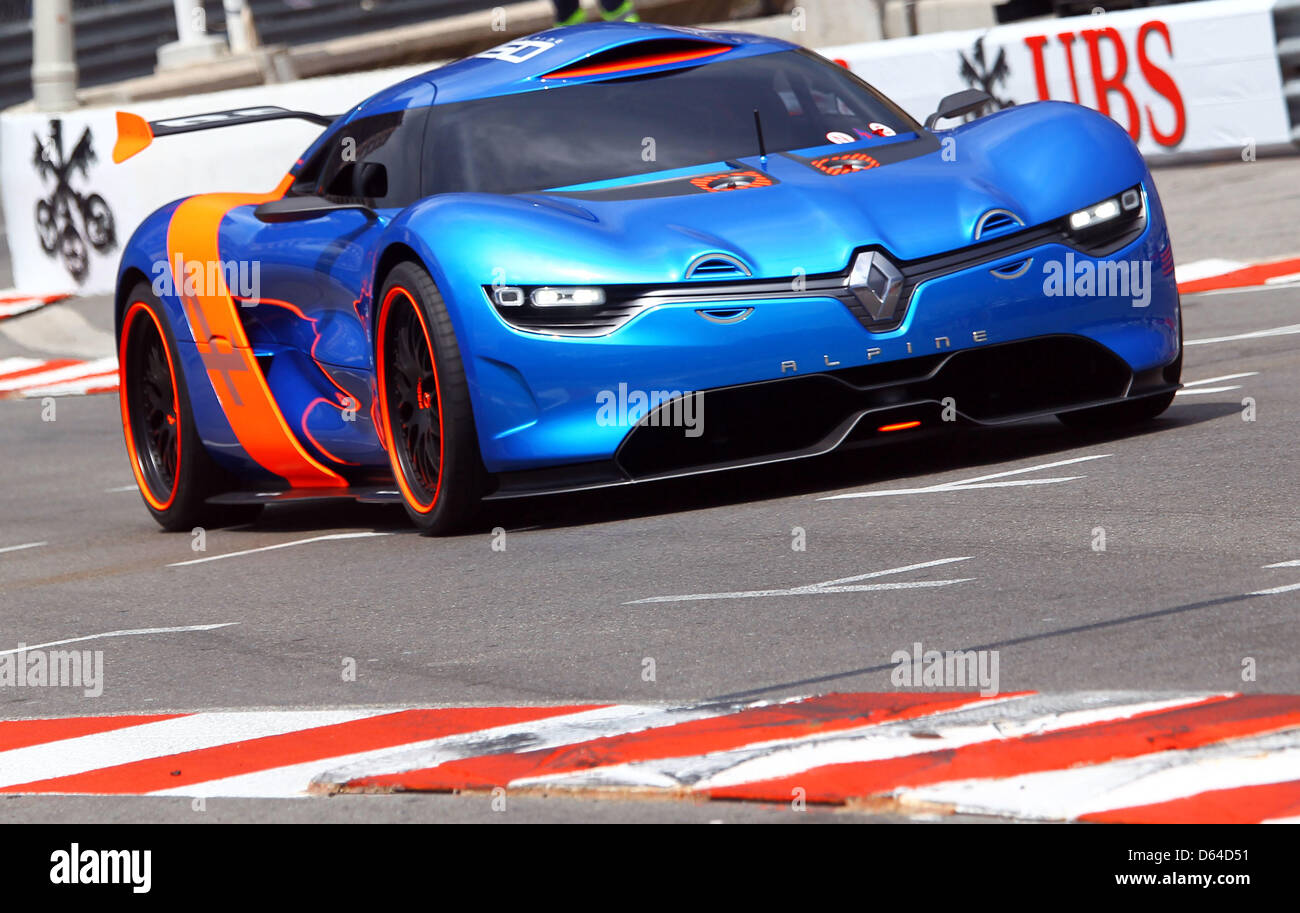 the new renault alpine a110 50 concept car is seen at the. Black Bedroom Furniture Sets. Home Design Ideas