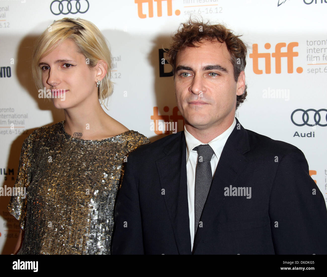Actor Joaquin Phoenix and Heather Christie arrive at the ...