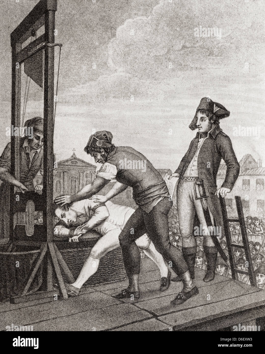 The Execution Of Robespierre. Maximilien François Marie ...