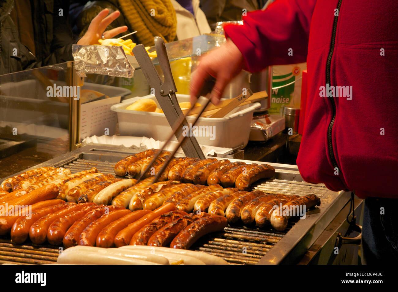 Hot Dog Stall Christmas Market Munster North Rhine