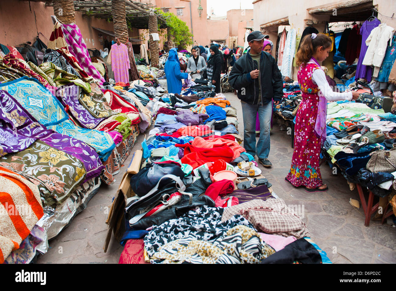 Clothes Stalls In The Souks Of The Old Medina Of Marrakech