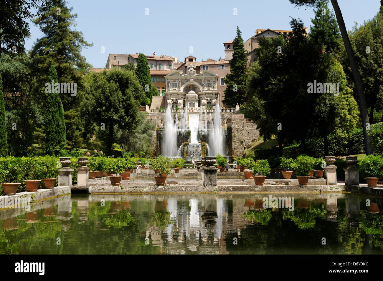 villa d este tivoli italy view over the level gardens and stock photo royalty free image. Black Bedroom Furniture Sets. Home Design Ideas