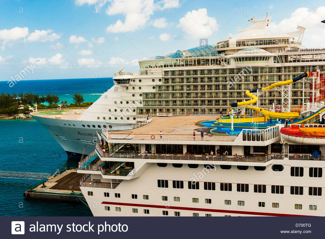 Carnival fantasy and royal caribbean allure of the sea docked in stock photo royalty free image - The allure of the modular home ...