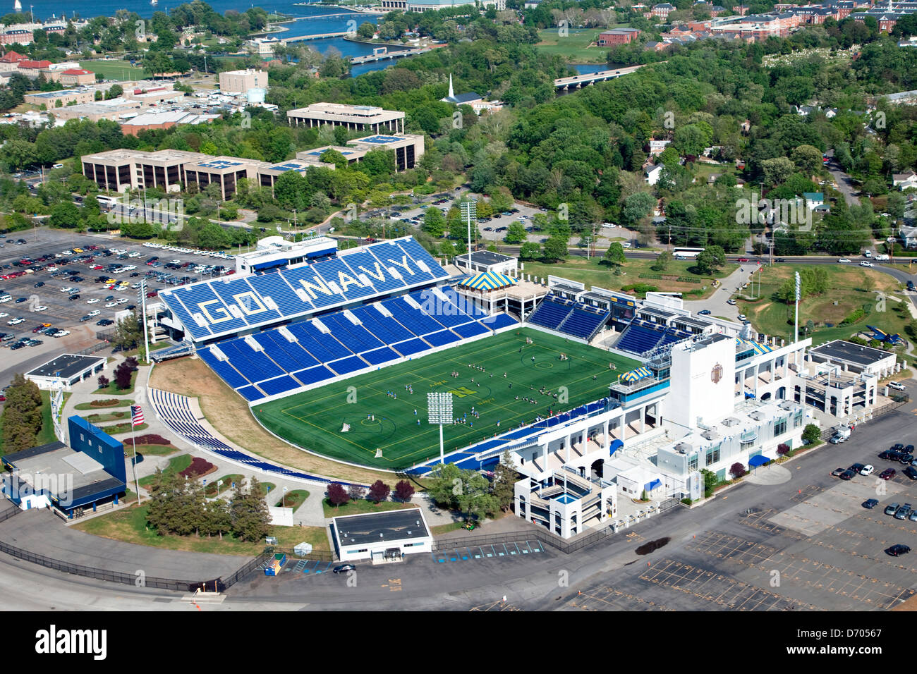 Aerial of Navy Marine Corps Memorial Stadium at the Naval ...
