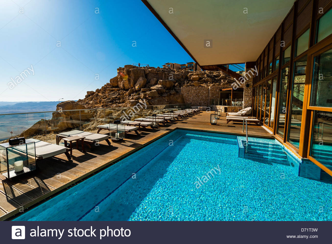 Swimming pool beresheet hotel mitzpe ramon negev desert israel stock photo royalty free for Hotels in jerusalem with swimming pool