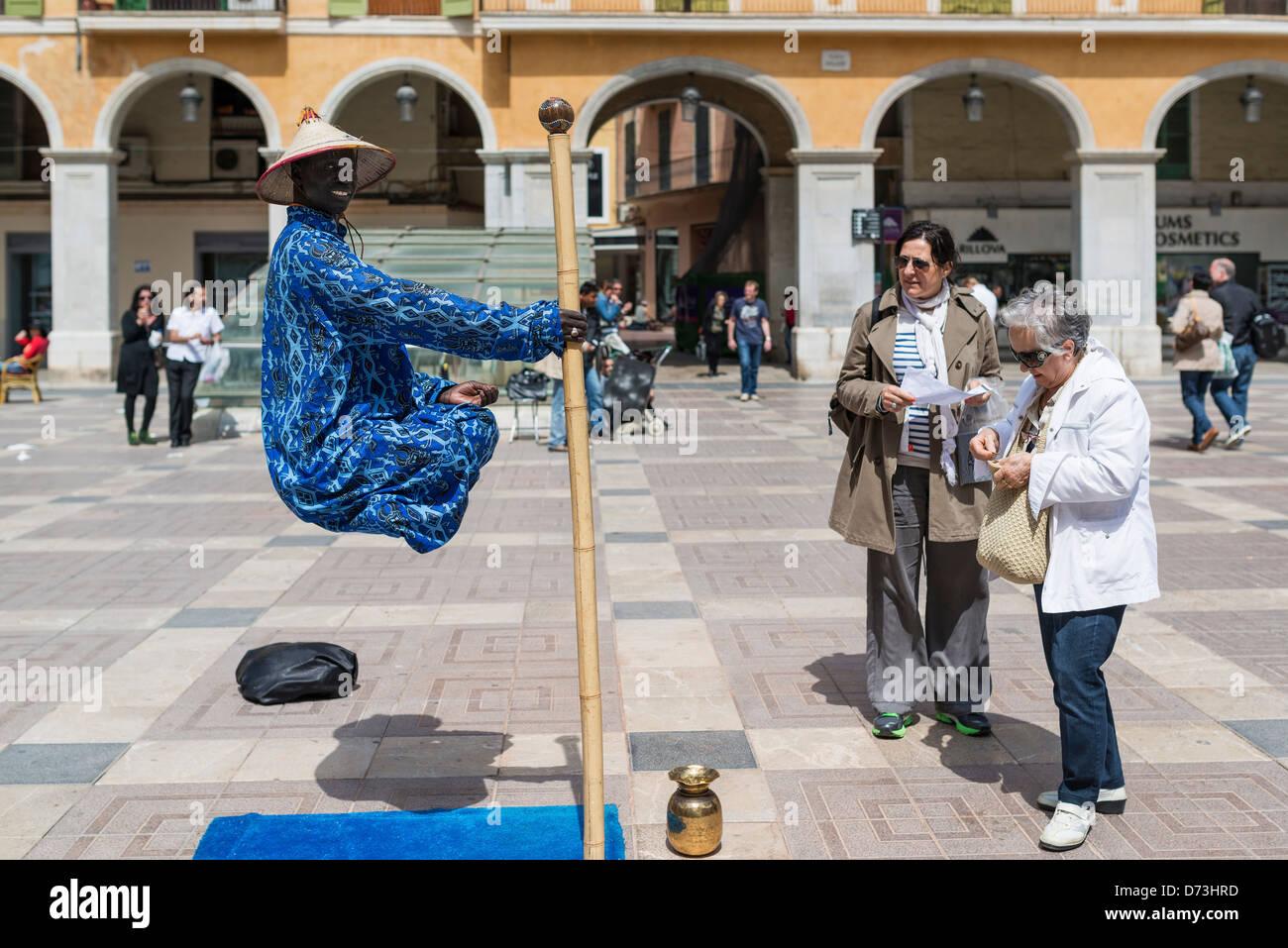 Street performer in Palma Majorca Stock Photo