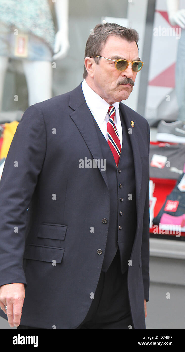 Tom selleck is seen shooting on location for the cbs tv - Tom selleck shows ...