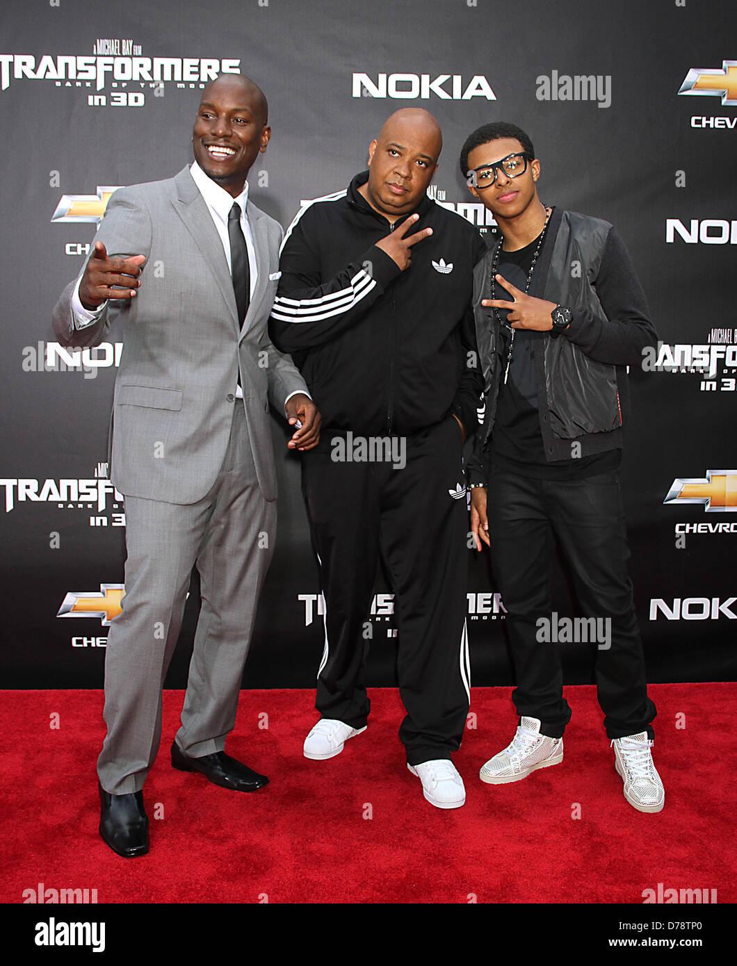 Tyrese Gibson, Rev Run, Joseph Jojo Simmons Jr. New York ...