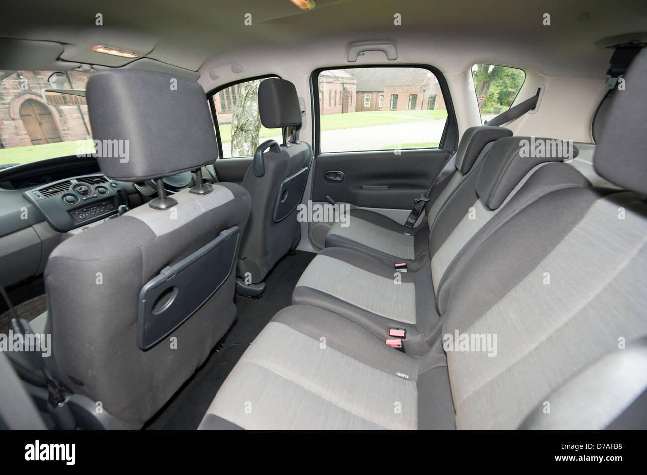 Inside interior of renault scenic car stock photo royalty for Interior renault scenic
