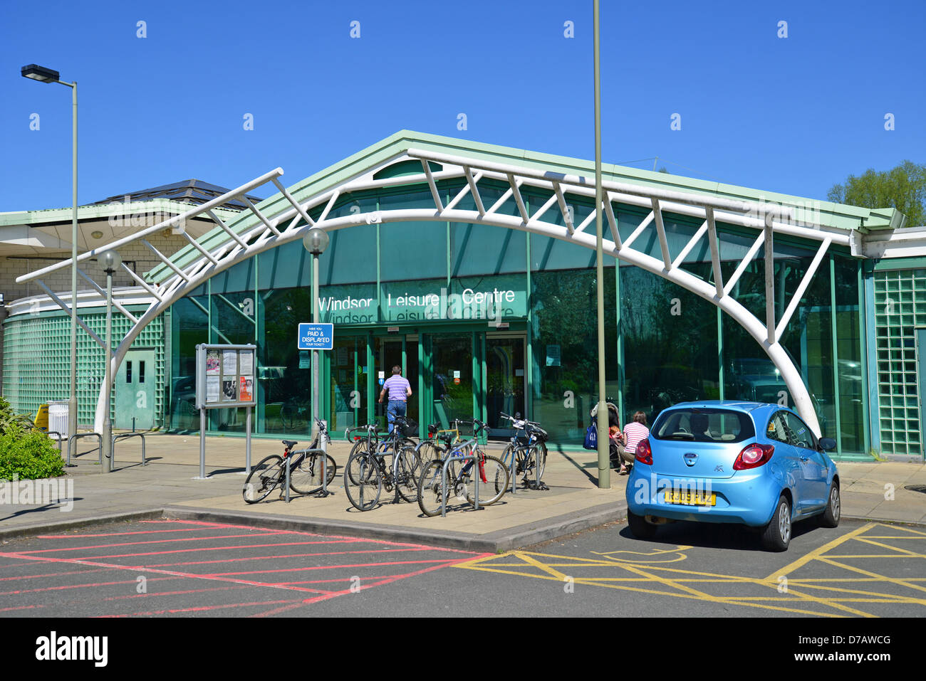 Entrance To Windsor Leisure Centre Clewer Mead Stovell Road Stock Photo Royalty Free Image