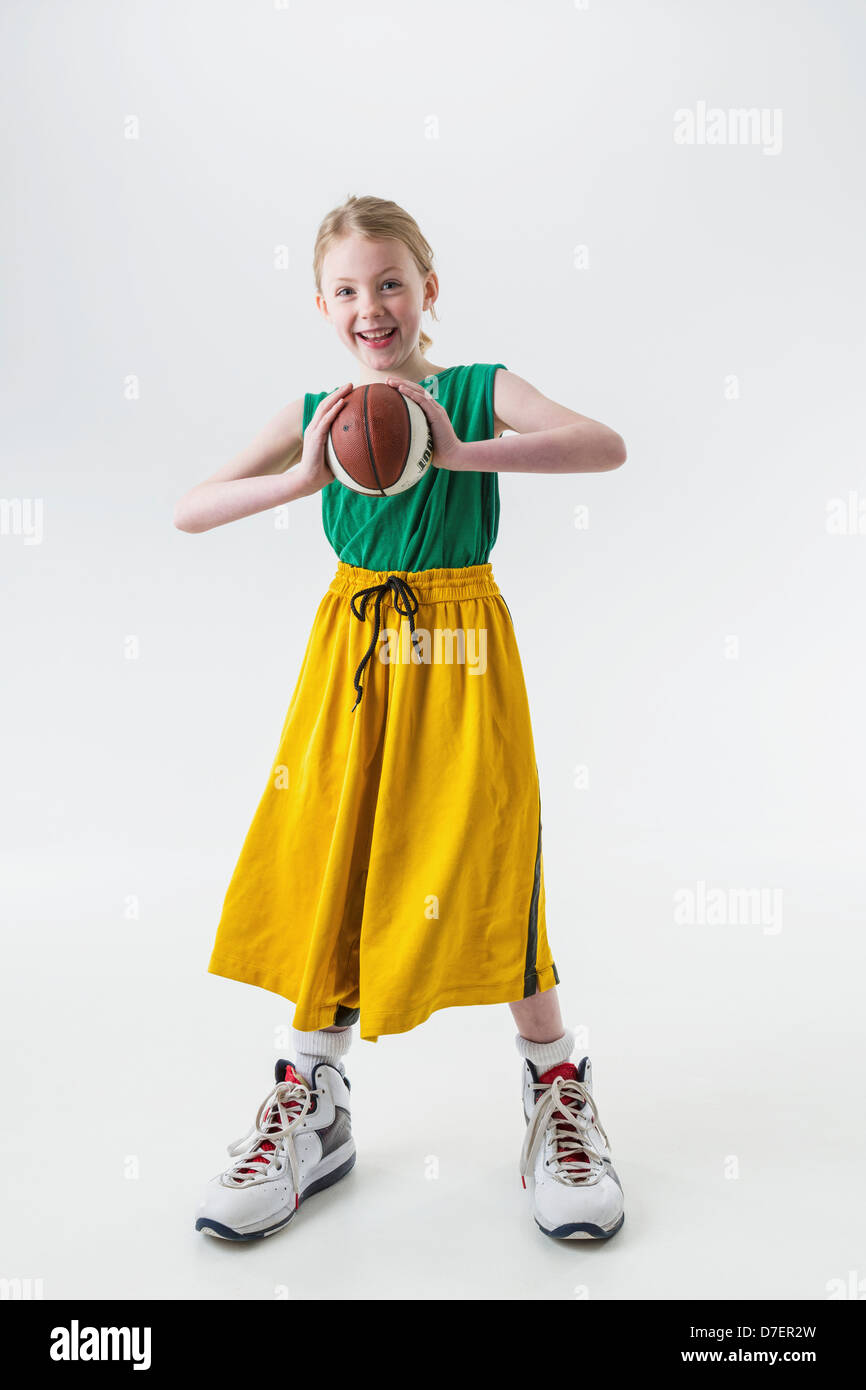 Girl Wearing Basketball Shoes