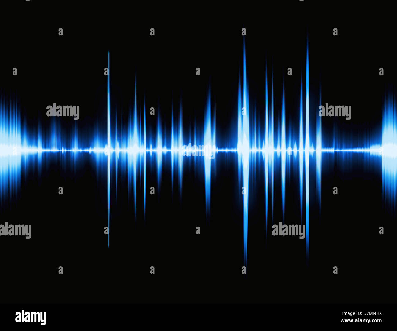 Sound waves, artwork Stock Photo