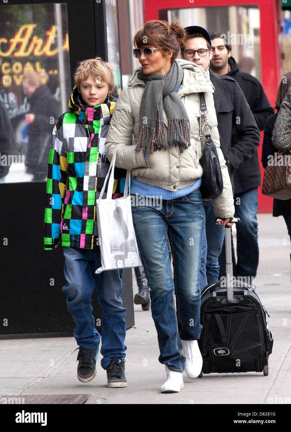 Mingus Lucien Reedus and his mother Helena Christensen Out ...