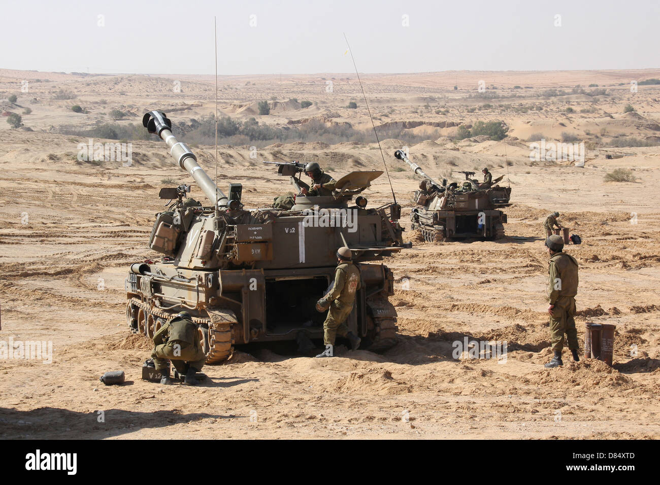 An Israel Defense Force Artillery Corps M109 Doher battery ...