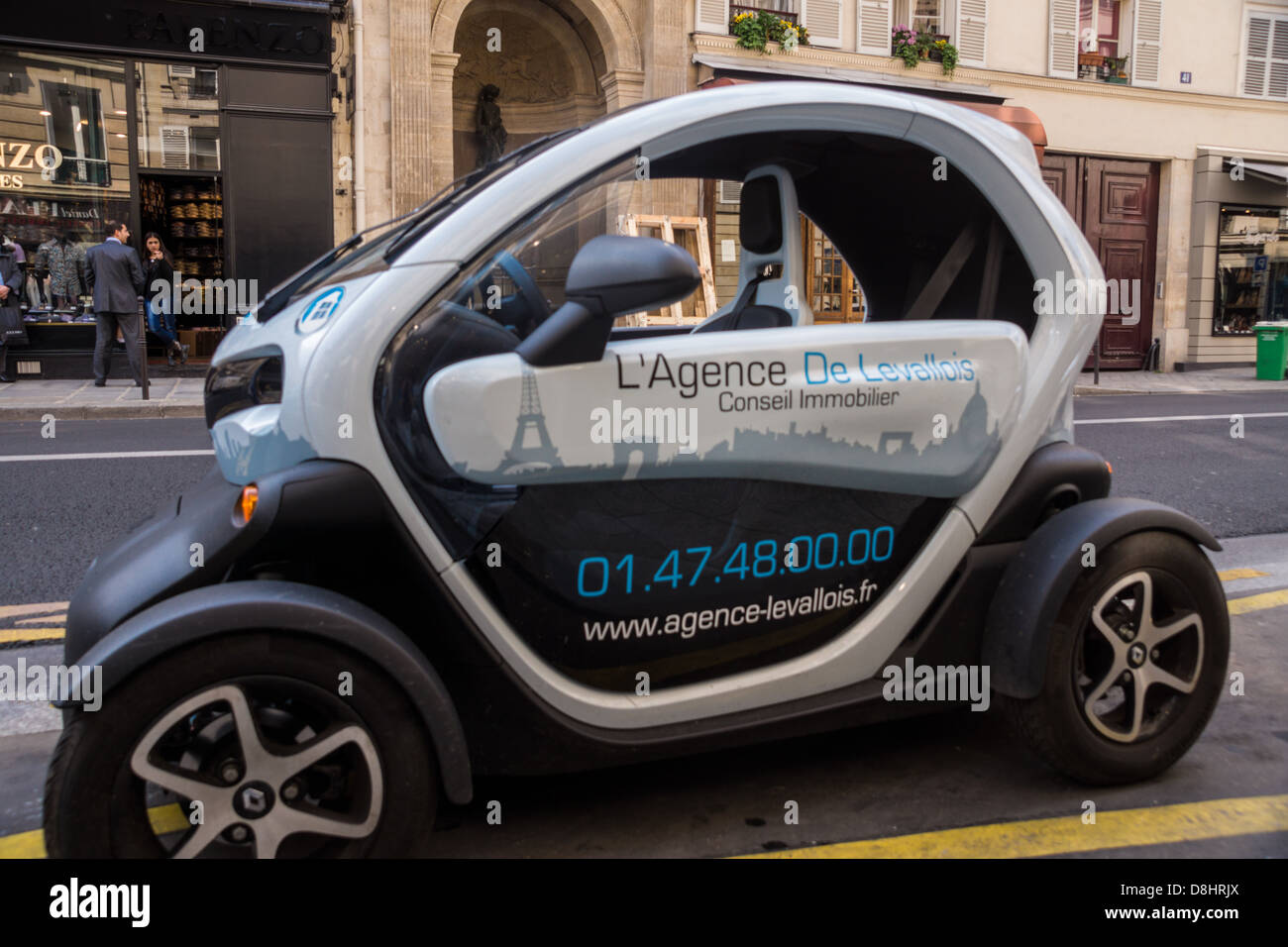 paris a renault twizy electric car quadricycle stock photo royalty free image 56940098 alamy. Black Bedroom Furniture Sets. Home Design Ideas
