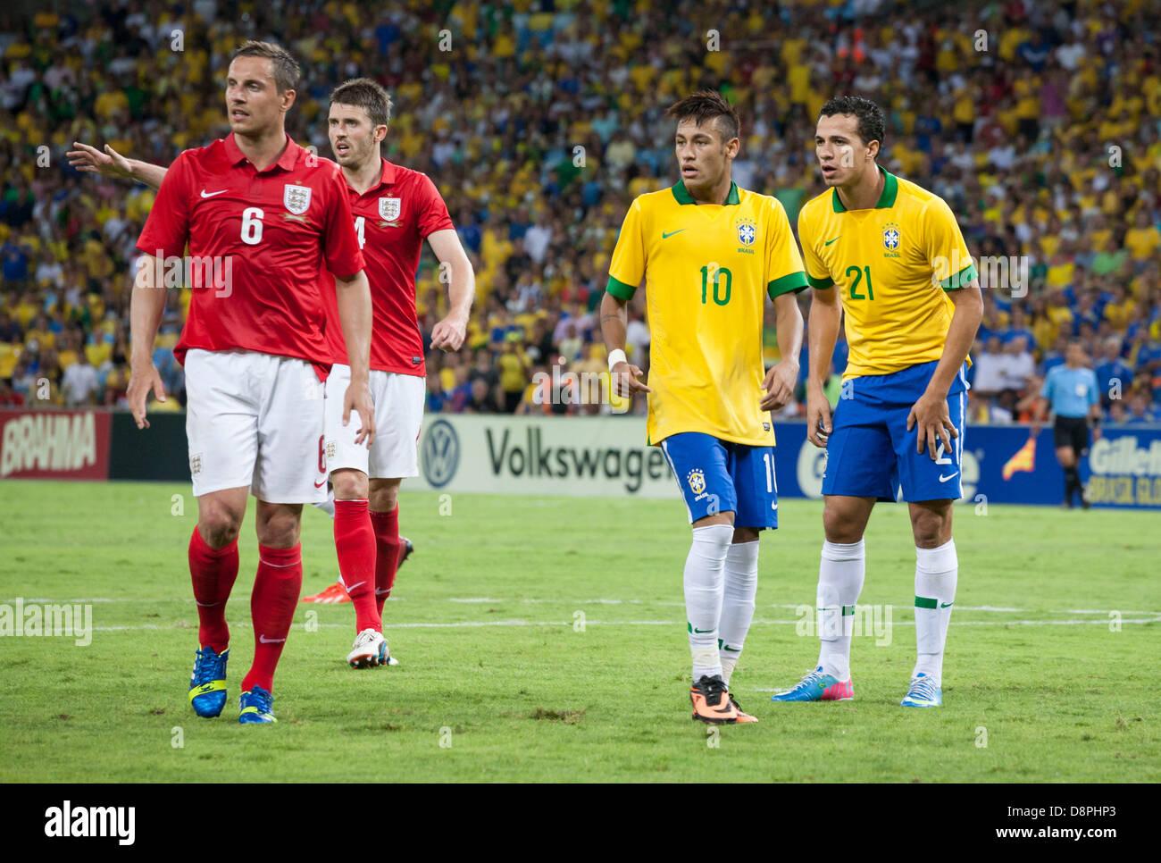 Brazilian Footballer Neymar (number 10), during a friendly ...  Brazilian Footb...