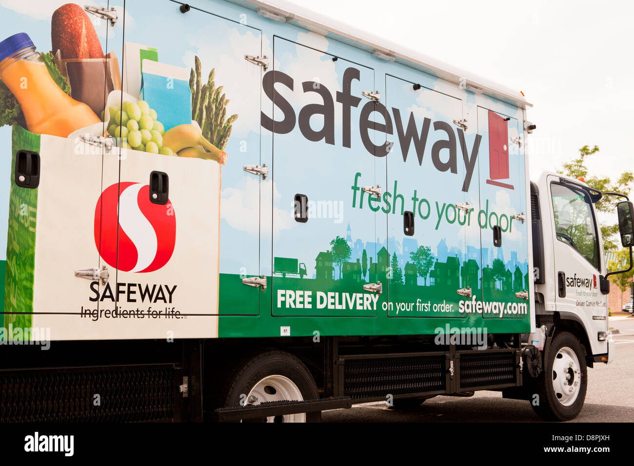 Safeway Home Delivery Trucks Stock Photo Royalty Free Image 57046153 Alamy