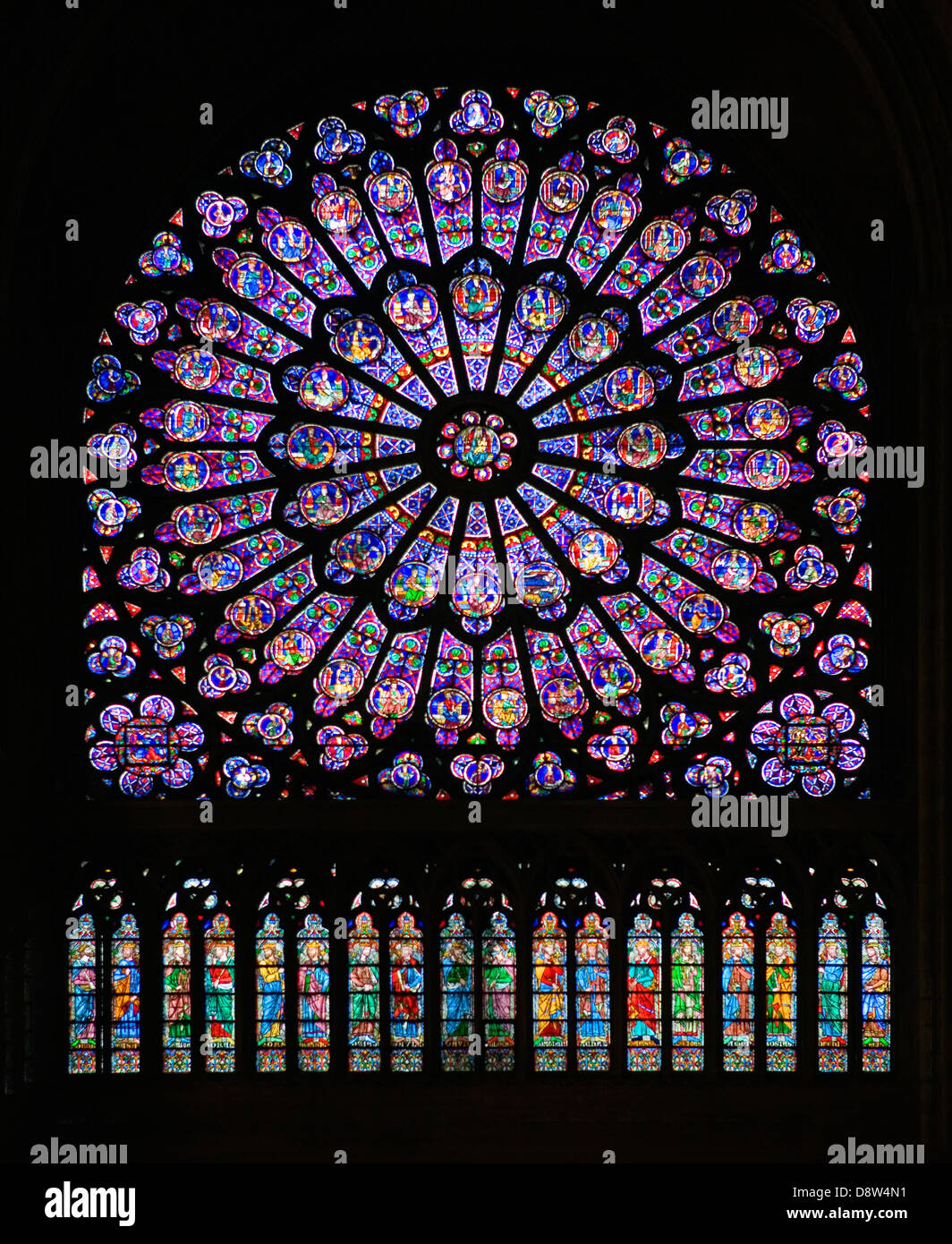 north transept rose window notre dame cathedral paris france stock photo royalty free image. Black Bedroom Furniture Sets. Home Design Ideas