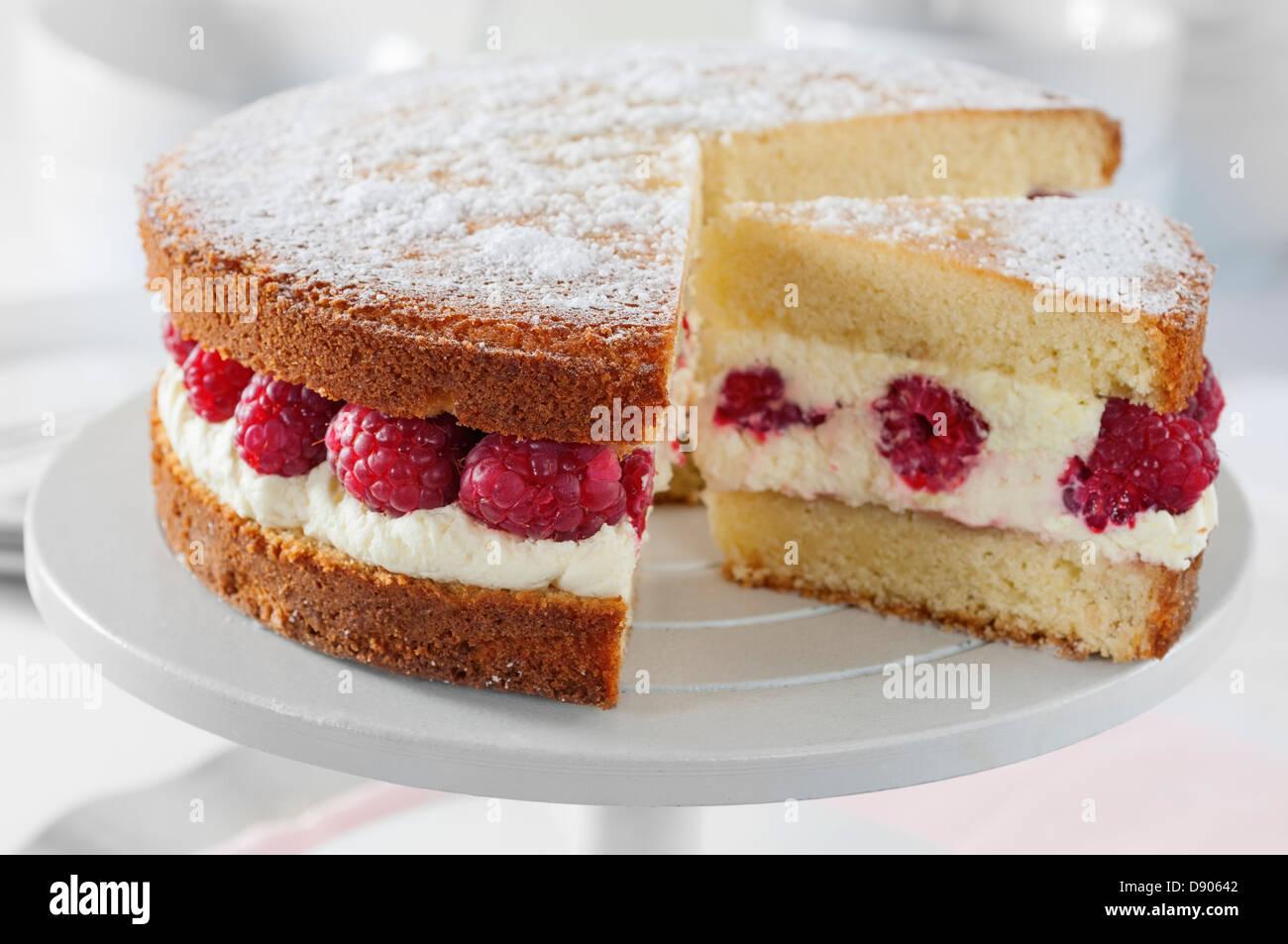 Raspberries And Cream Cakes