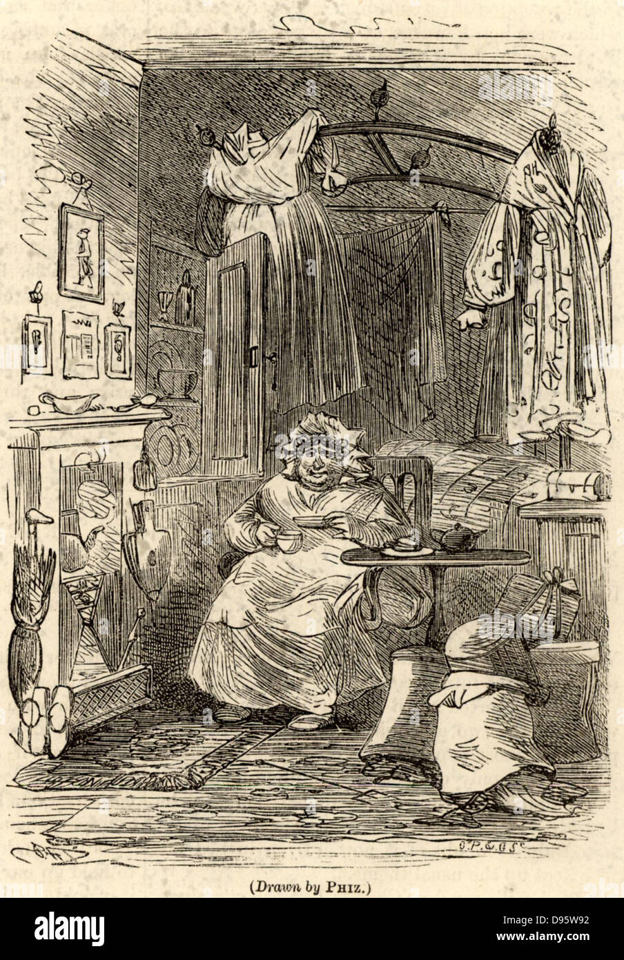 dickens character stock photos dickens character stock images sarah gamp a character from the novel martin chuzzlelwit by charles dickens