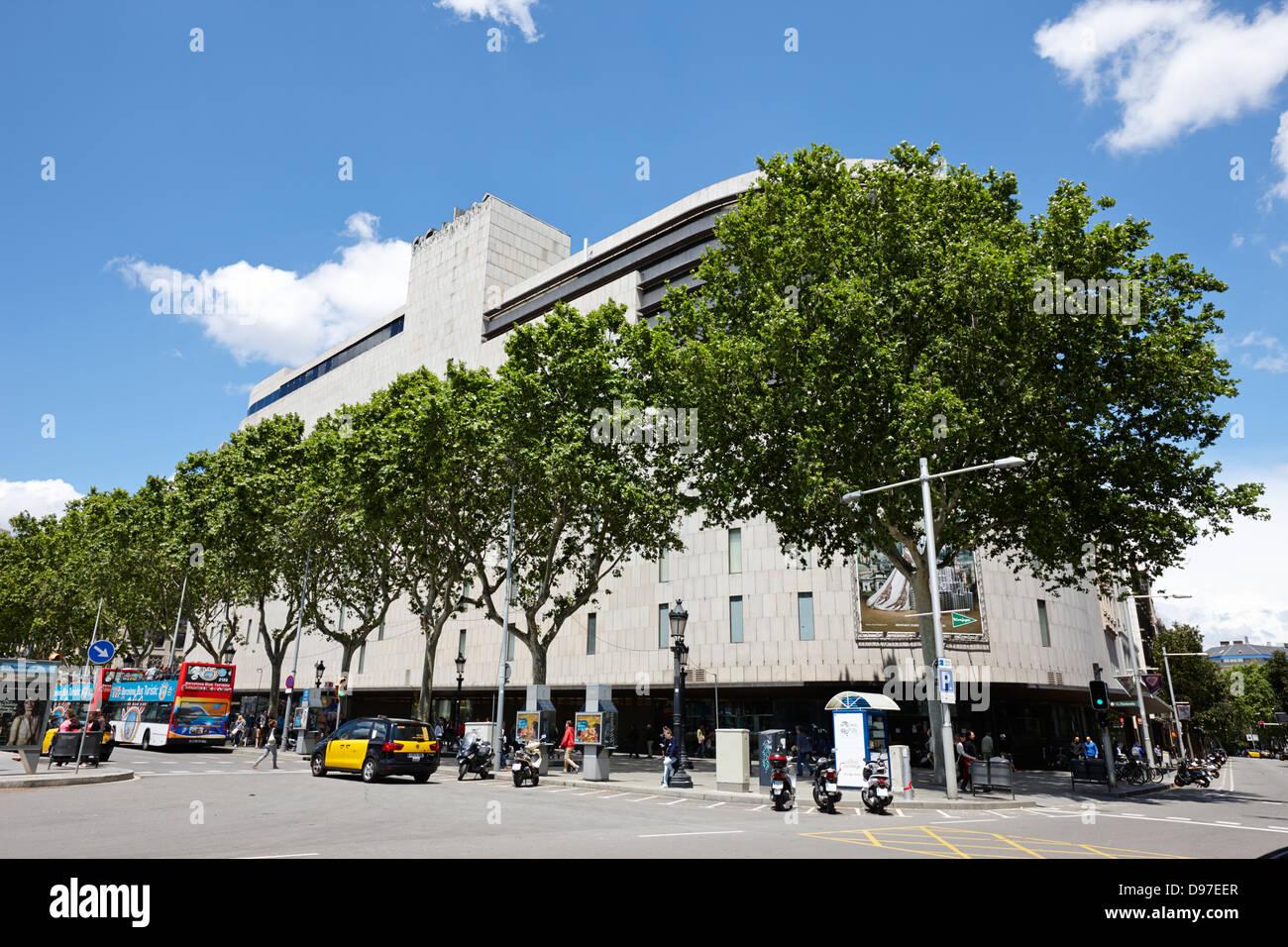 Modern el corte ingles department store on placa de - El corte ingles plaza cataluna barcelona ...