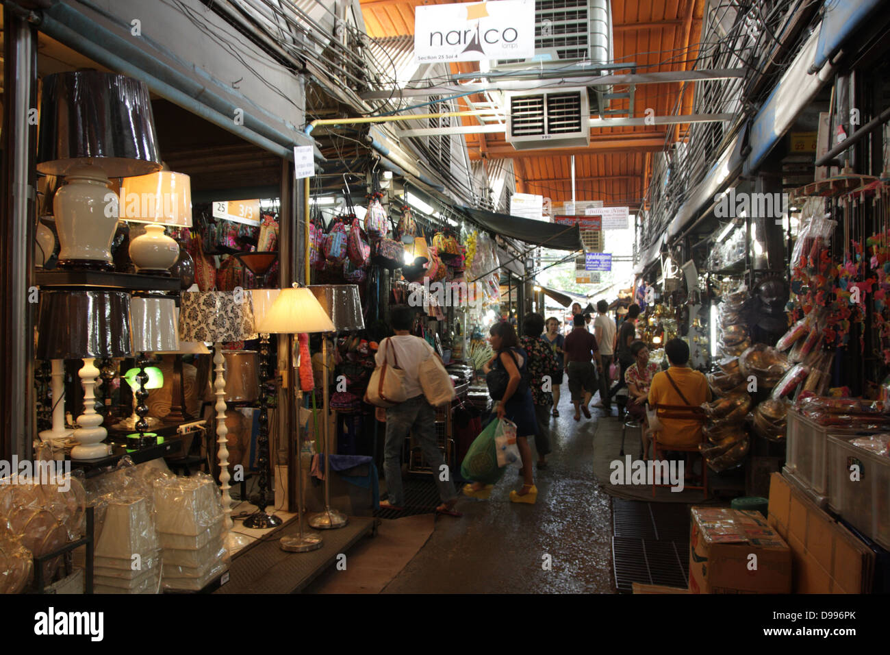 Walkway Near A Home Decor Shop At Chatuchak Weekend Market In Bangkok Stock Photo Royalty Free