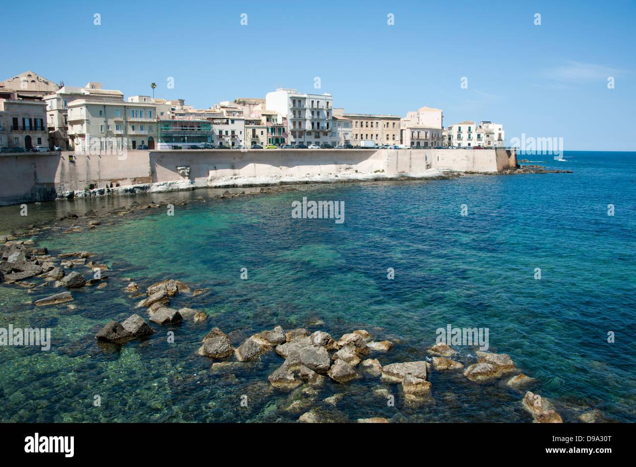 Old town, Siracusa, Sicily, Italy , Altstadt, Syrakus ...