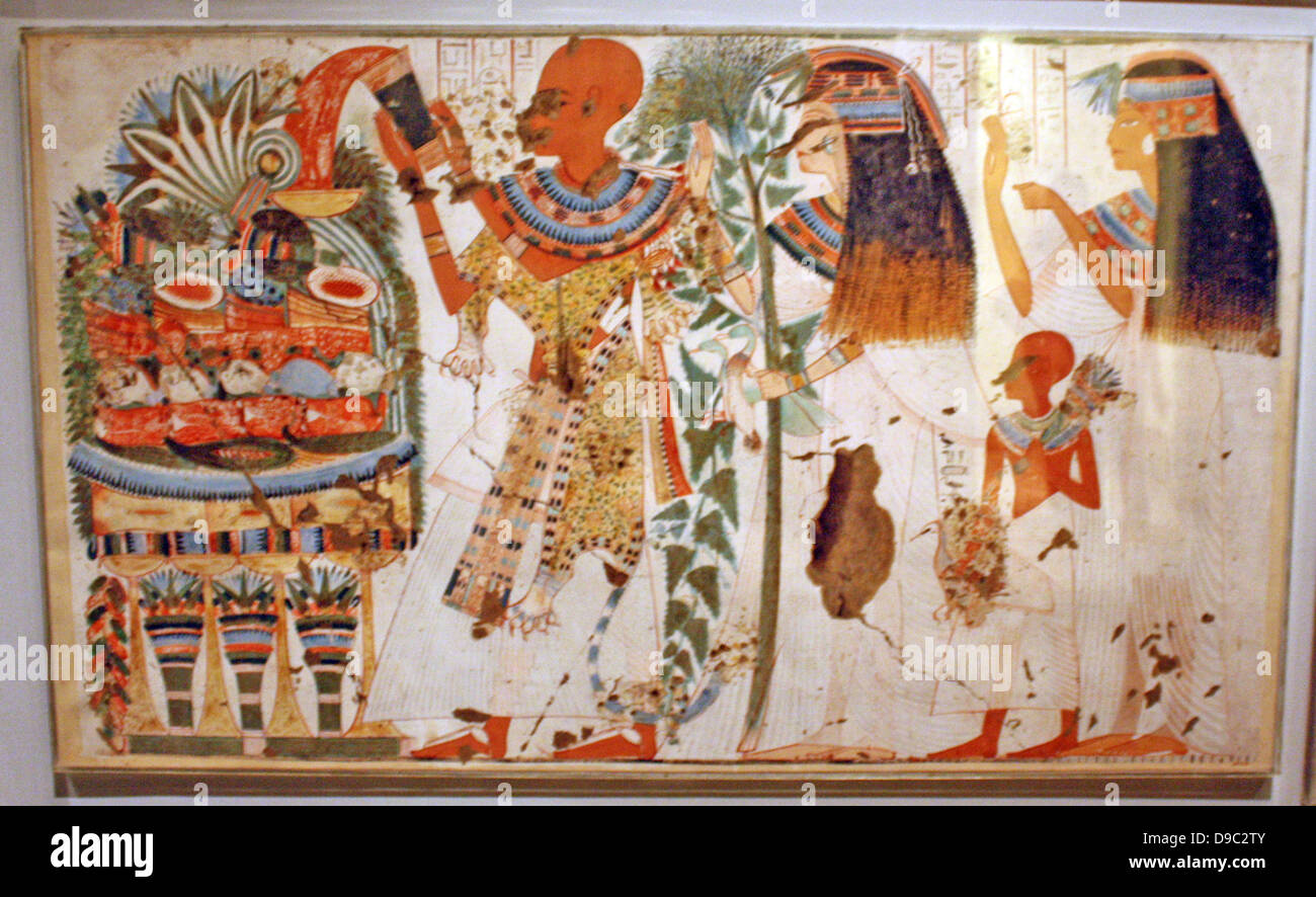 Egyptian wall paintings from the new kingdom facsimies of for Ancient egypt decoration