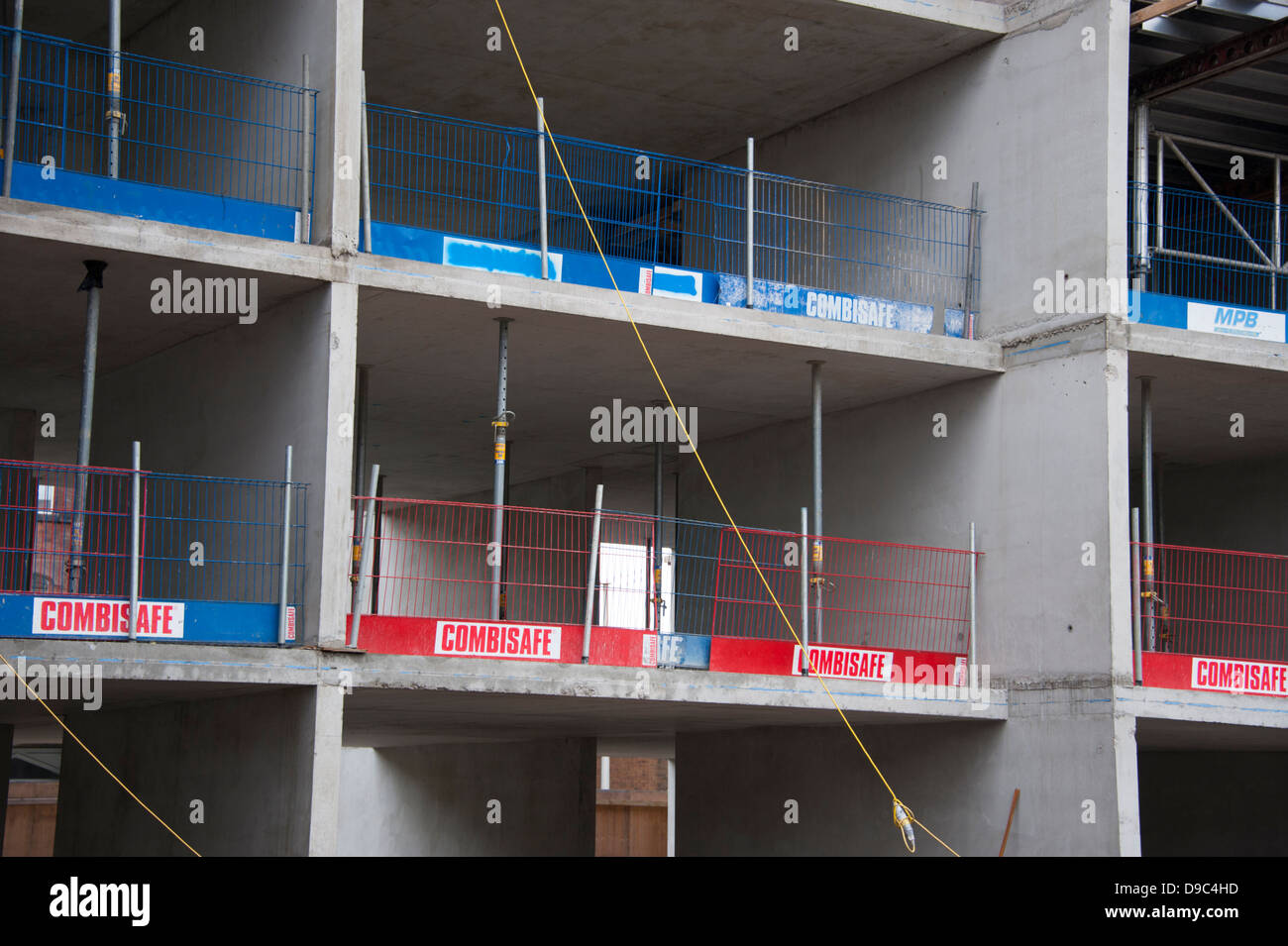 Building site construction safety edge protection barrier