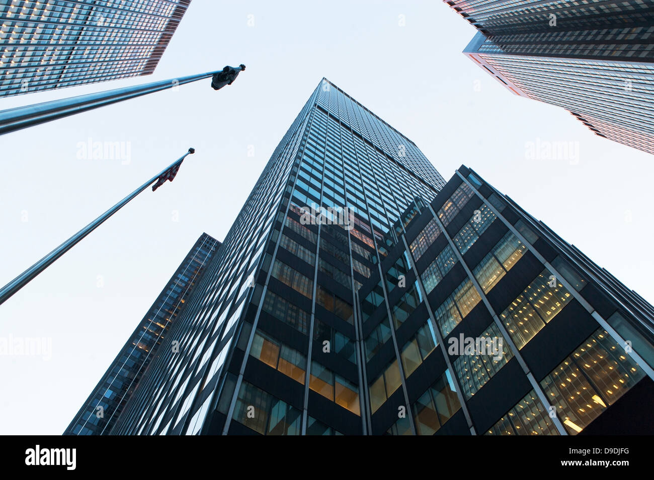 View of skyscrapers from below Stock Photo