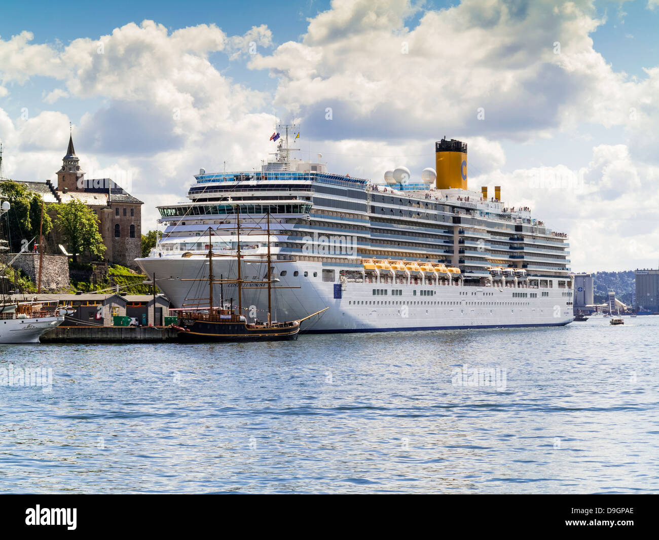 Cruise Ship The Costa Luminosa In Oslo Harbour Norway