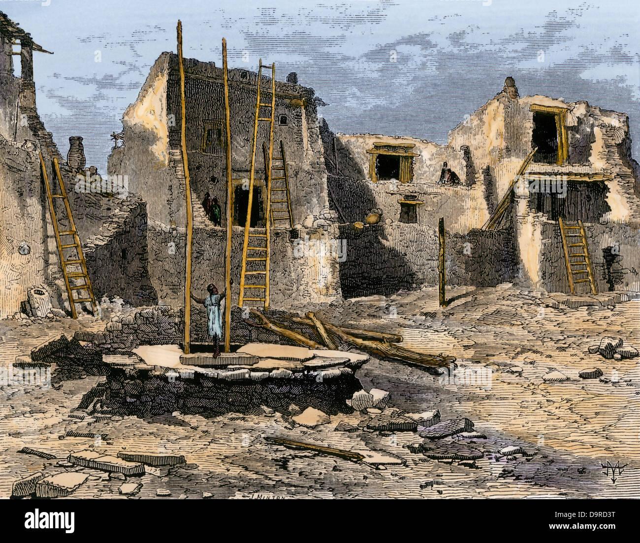 Heritage Homes Floor Plans Hopi Village Of Oraibi From John Wesley Powell S
