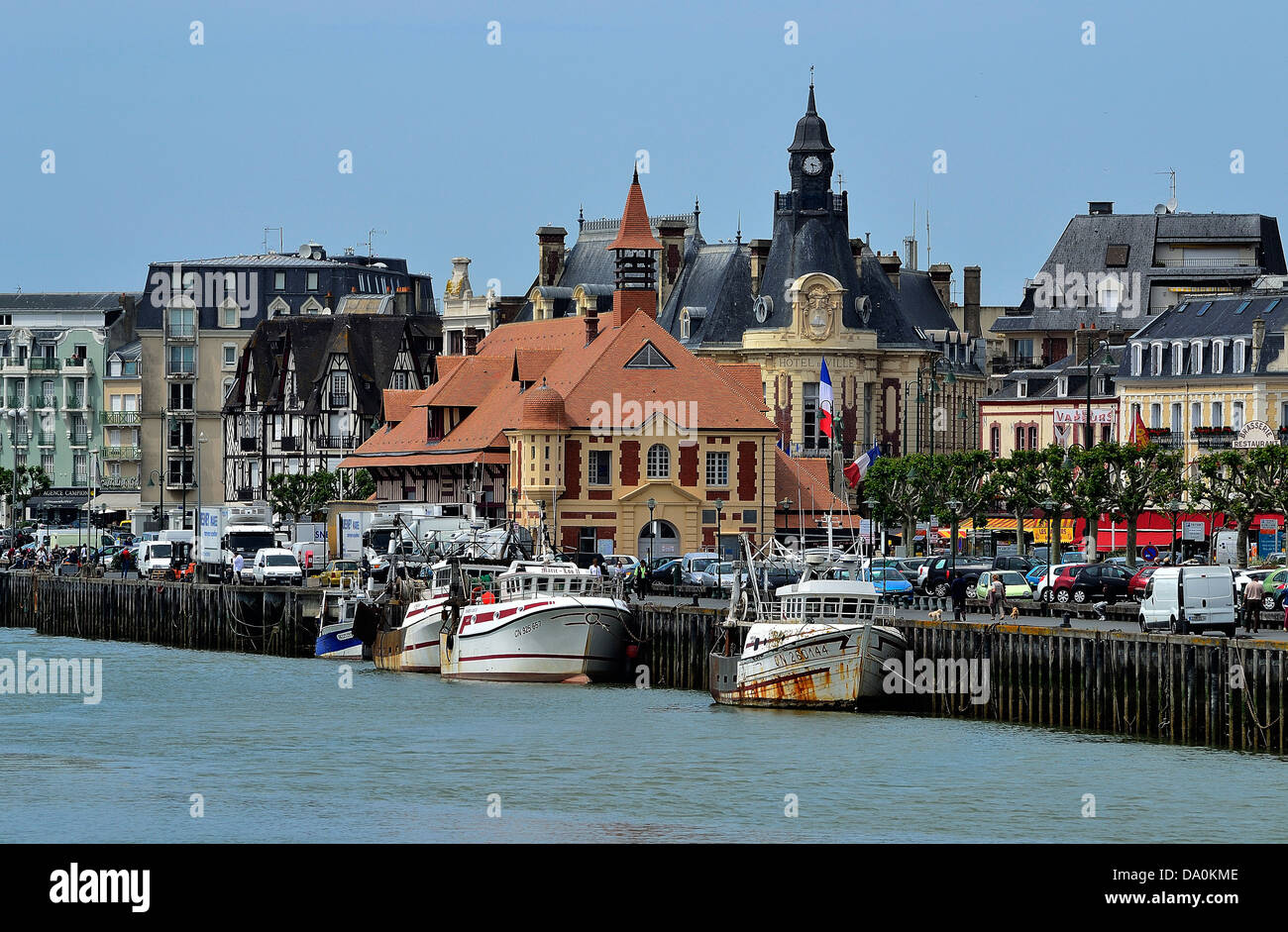 Port of trouville sur mer touques river town hall in the - Office de tourisme trouville sur mer ...