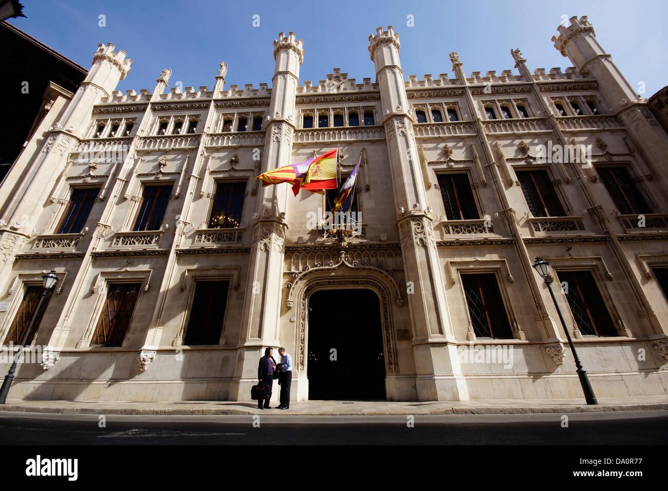 Consell Spain  city photos gallery : Consell De Mallorca, Council Of Mallorca, Carrer Del Palau Reial Stock ...