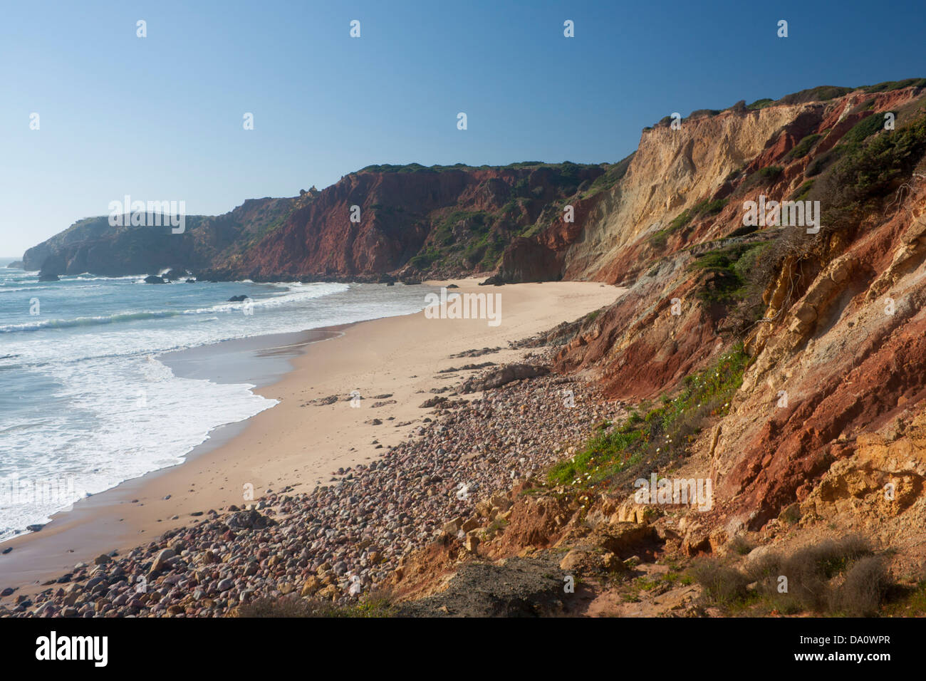 Praia do amado beach in parque natural do sudoeste - Natura portugal ...