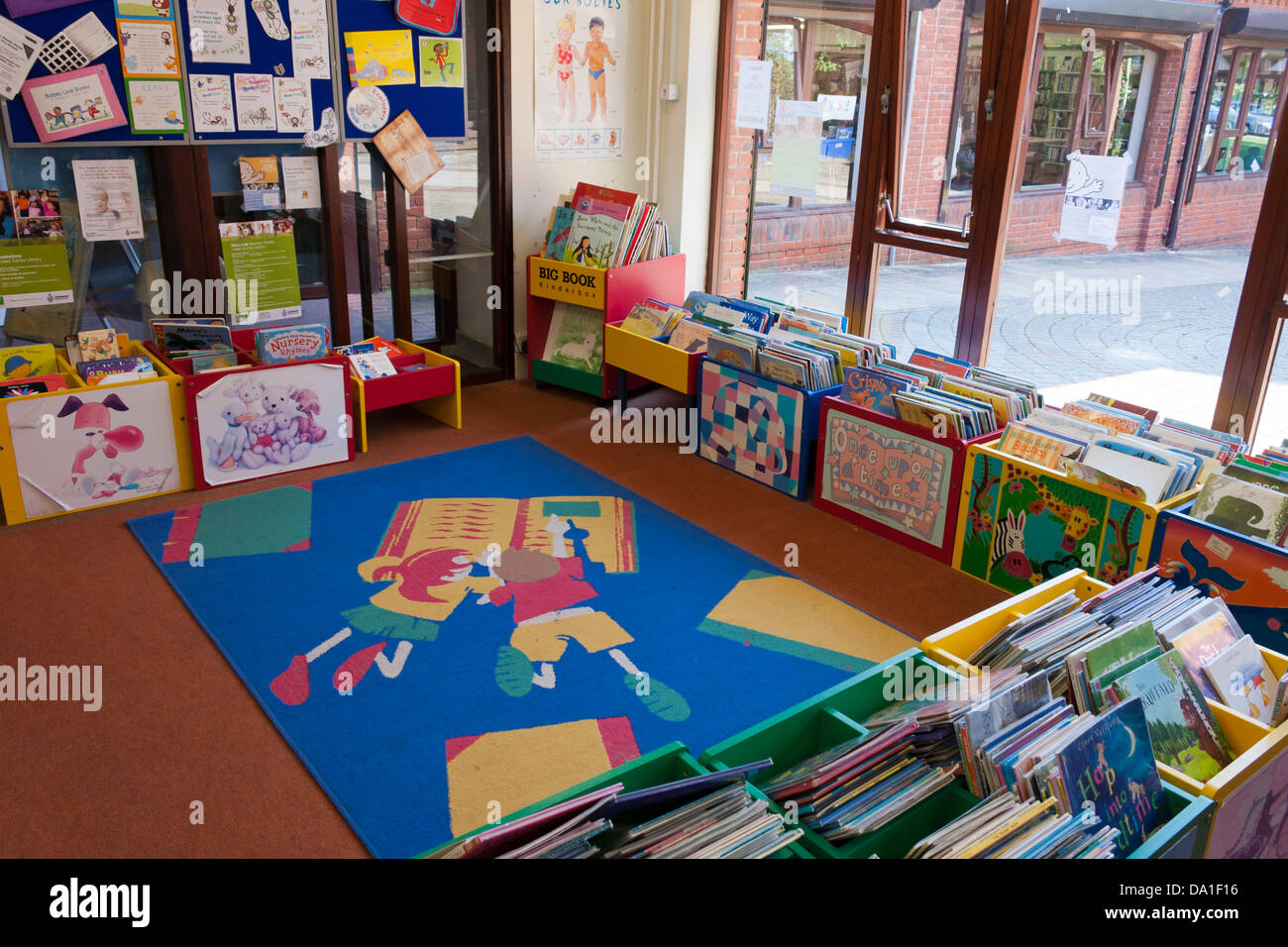 Section of a UK Public Library for children's books ...