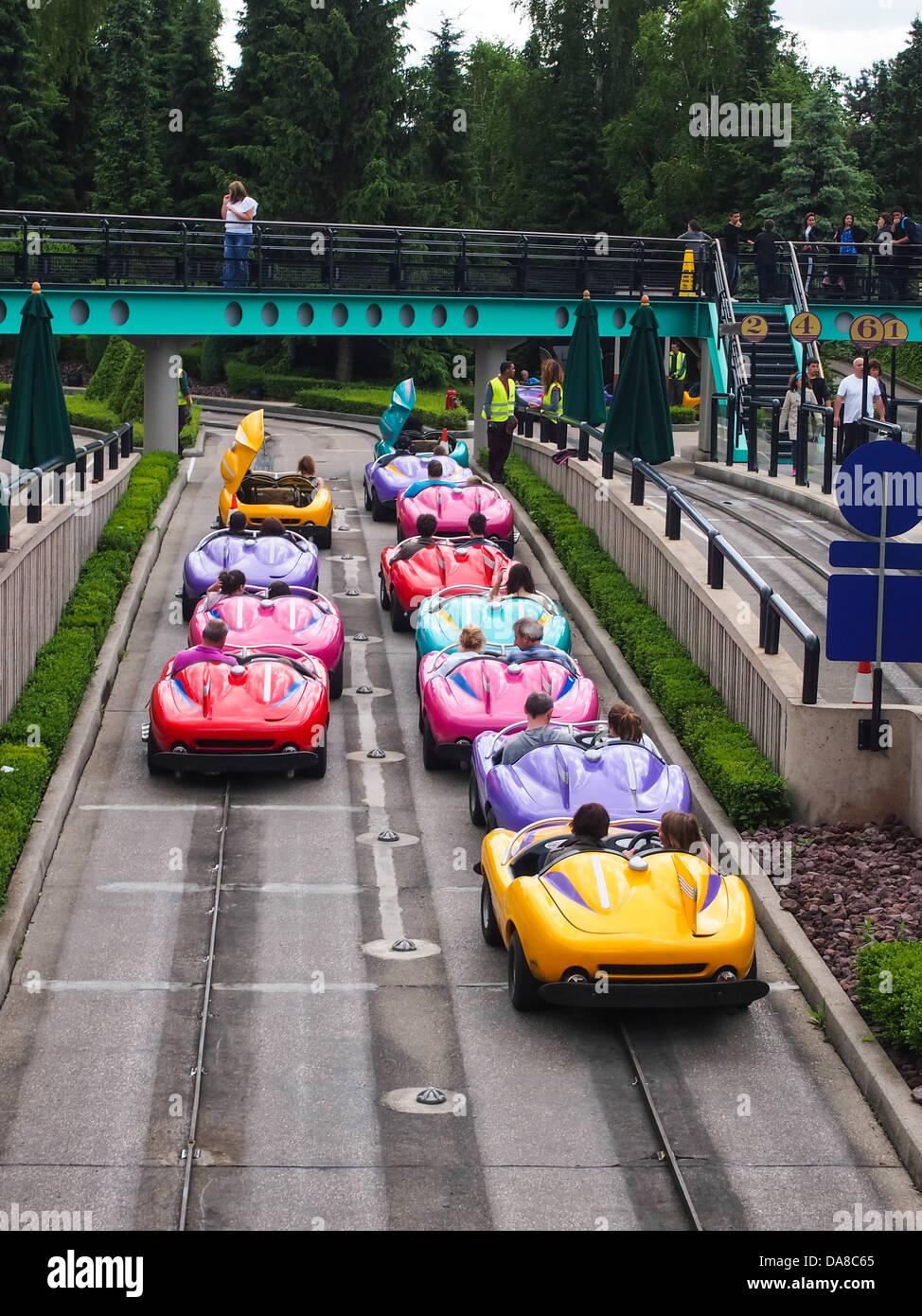 Race Car Ride At Disneyland
