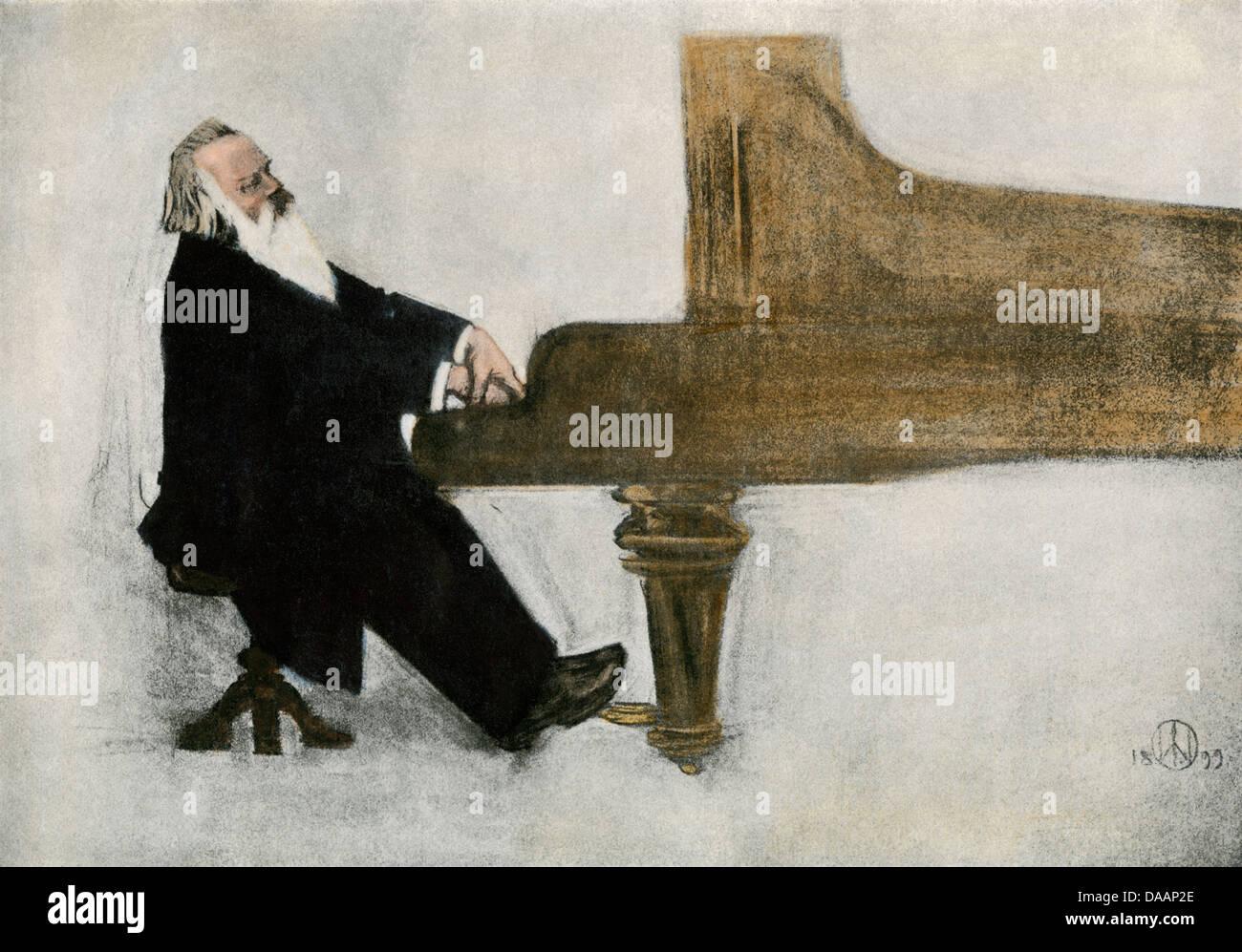 Johannes brahms piano