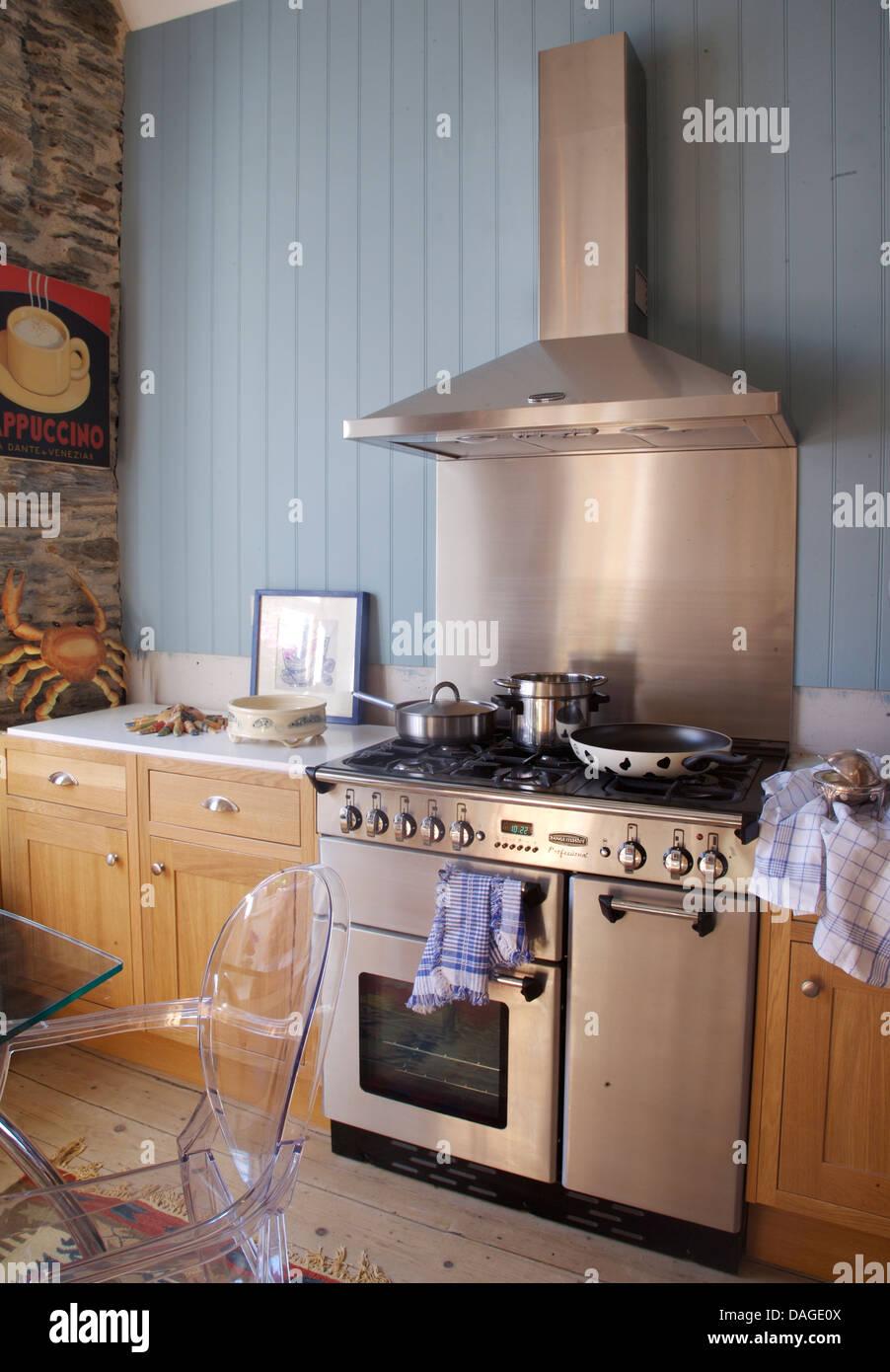 Stainless Steel Splash Back Cooker Hood Above Range Oven
