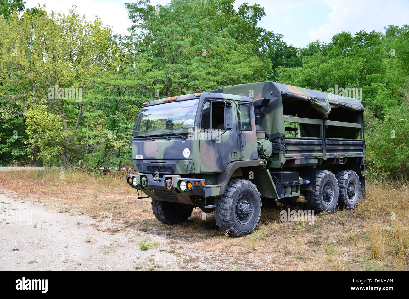 military personnel carrier 2 1 2 ton truck in camouflage stock photo royalty free image. Black Bedroom Furniture Sets. Home Design Ideas