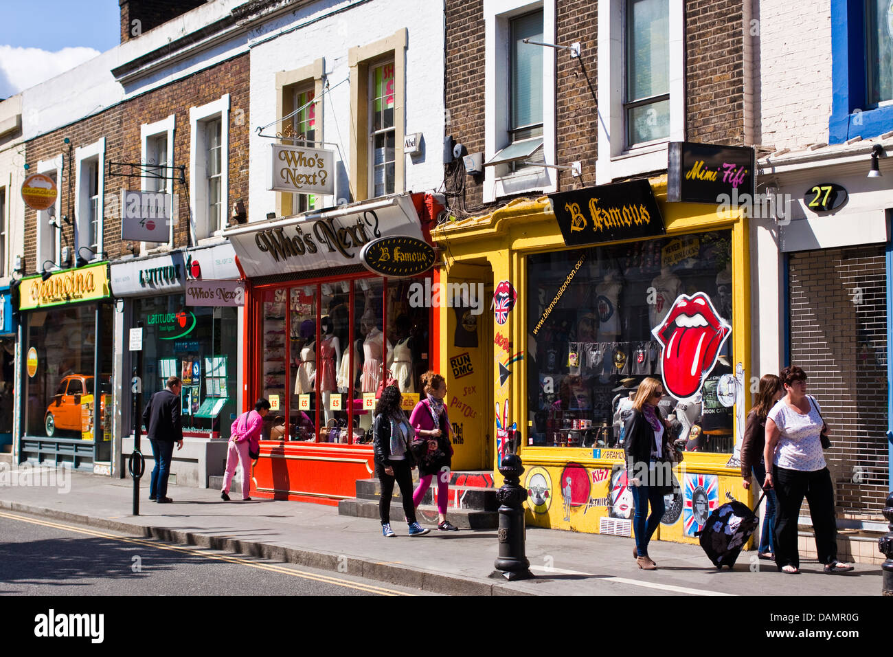 pembridge road shops near to portobello road in notting hill london stock photo royalty free. Black Bedroom Furniture Sets. Home Design Ideas