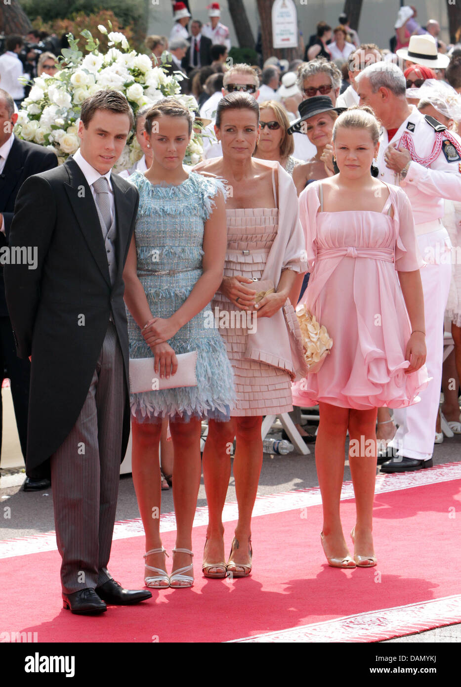 Princess Stephanie of Monaco with her children Louis ...