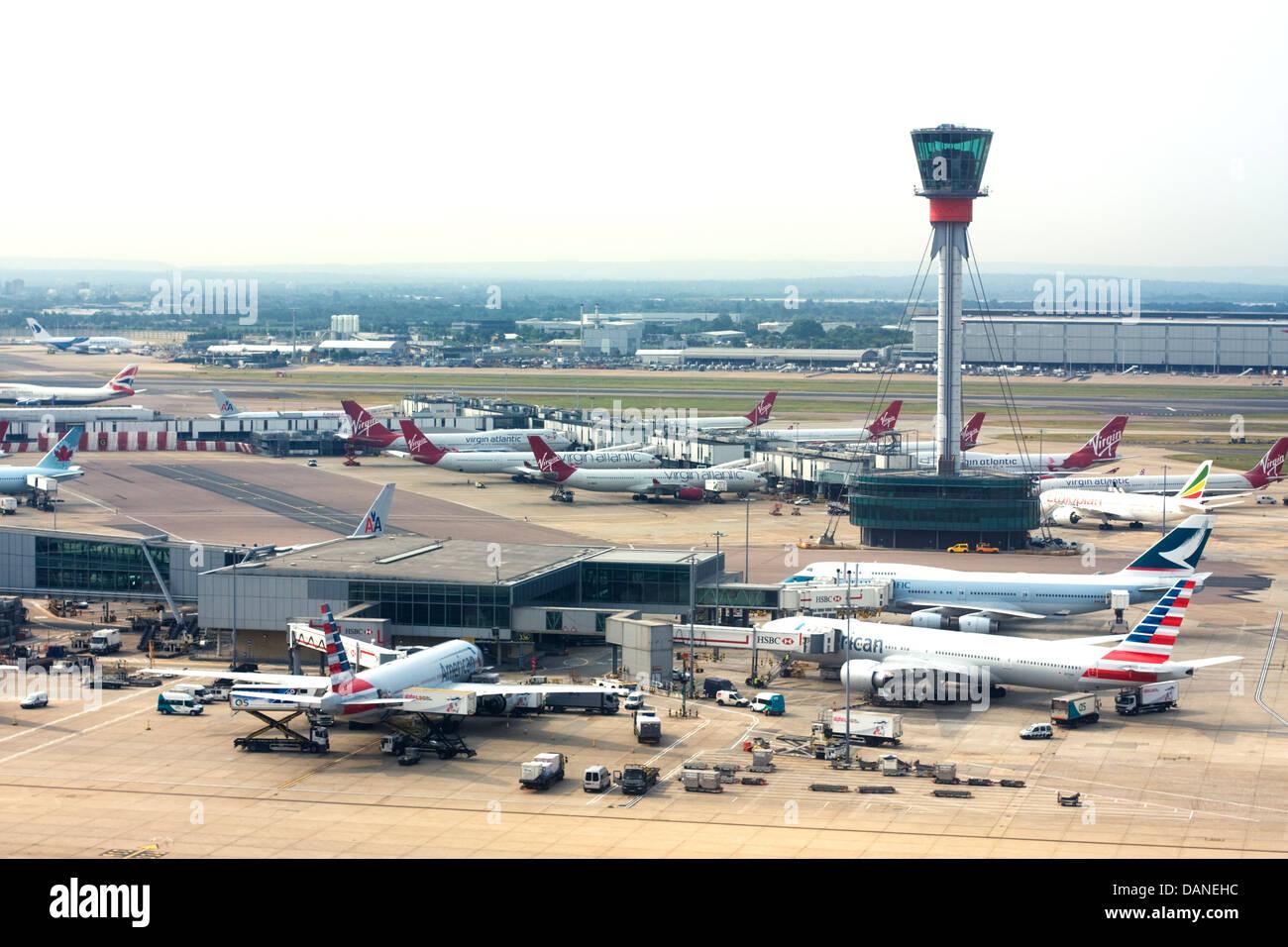 London Heathrow Airport Stock Photo
