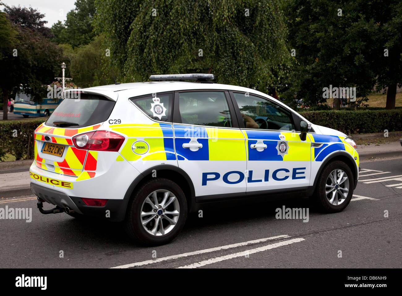 British police car