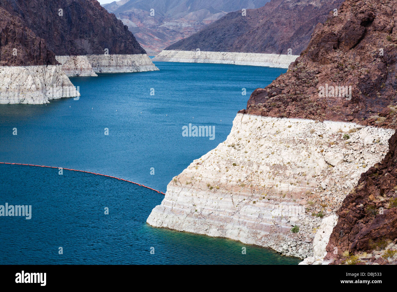 Lake Mead At Hoover Dam Showing Dramatic Fall In Water