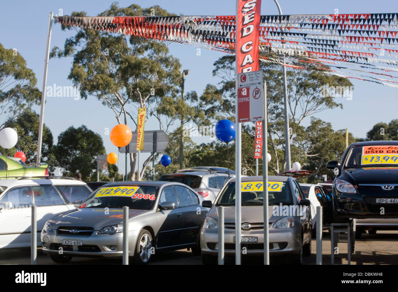 Used Cars For Sale At A Car Lot In Sydney Australia Stock