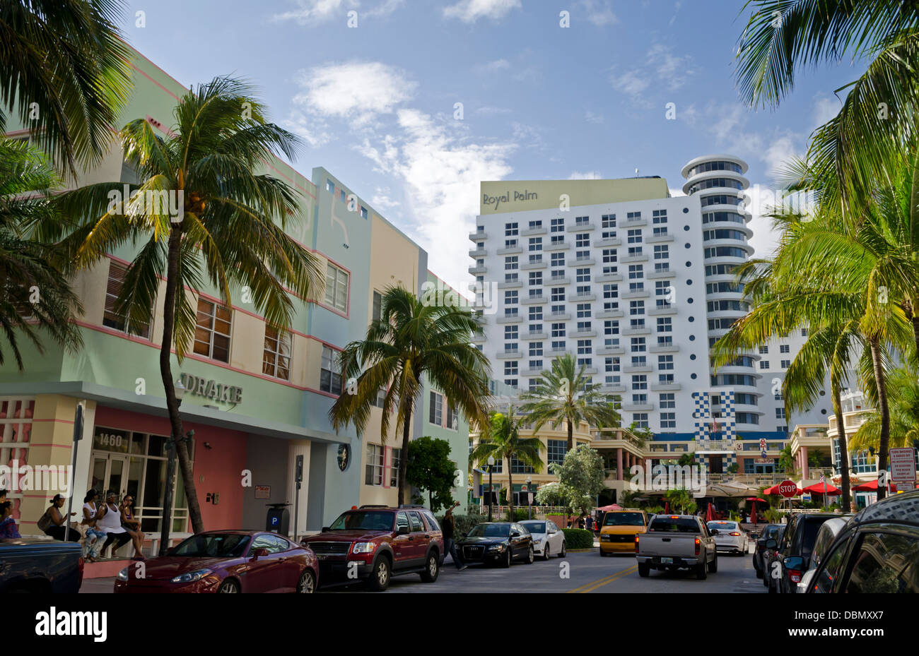 Ocean Drive South Beach Miami Beach Fl  Usa