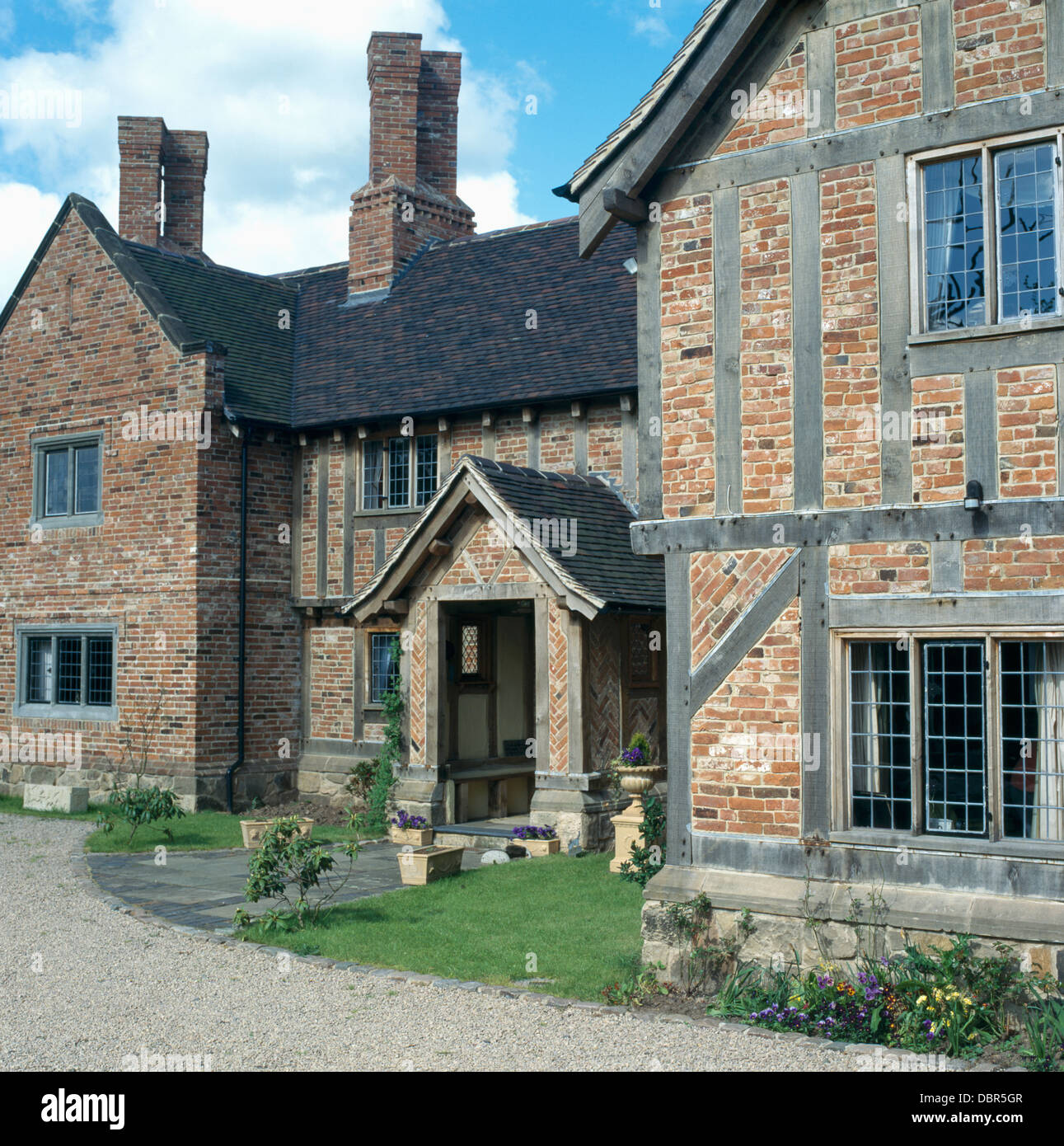 Large, New-build, Tudor-style Country House With Brick