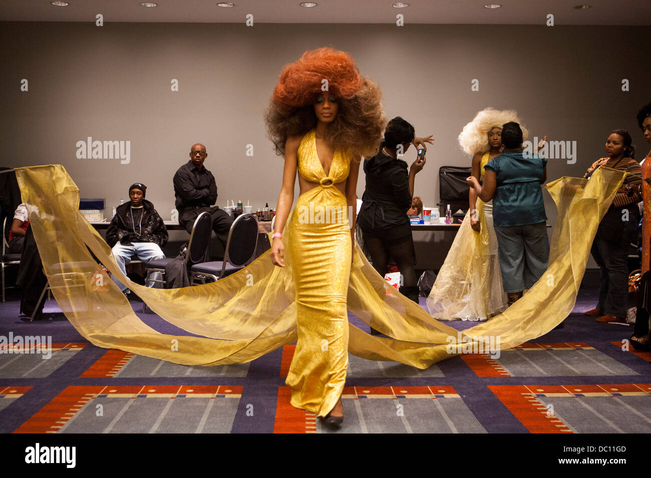 An African American Hair Fashion Show Stock Photo Royalty
