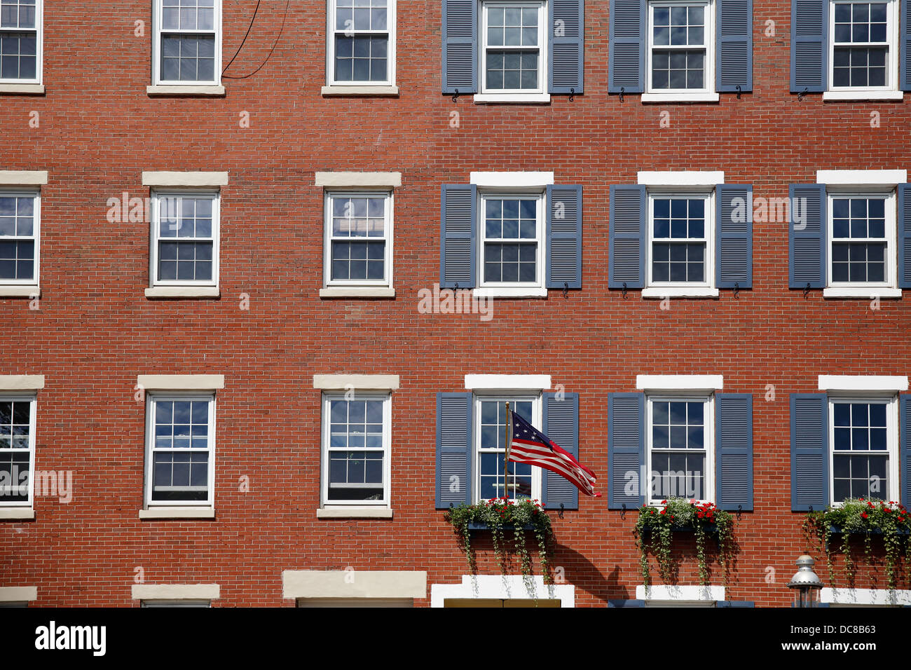 Red brick apartment buildings in the Charlestown ... Brick Apartment Building